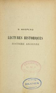 Cover of: Histoire ancienne