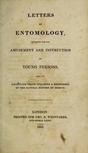 Cover of: Letters on entomology
