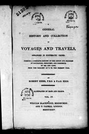 Cover of: A general history and collection of voyages and travels, arranged in systematic order