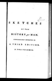 Cover of: Sketches of the history of man