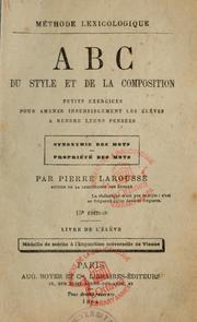 Cover of: Méthode lexicologique