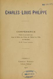 Cover of: Charles-Louis Philippe