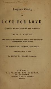 Cover of: Congreve's comedy of Love for love