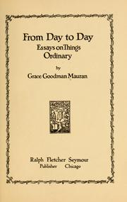 Cover of: From day to day