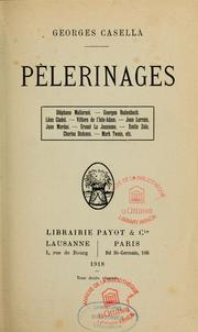 Cover of: Pèlerinages