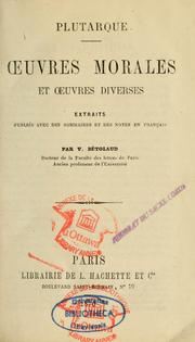 Cover of: Oeuvres morales et oeuvres diverses