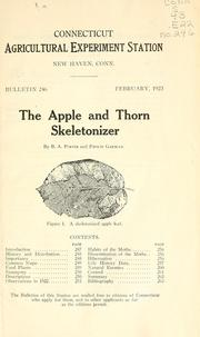 Cover of: The apple and thorn skeletonizer