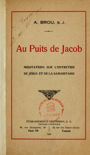 Cover of: Au puits de Jacob