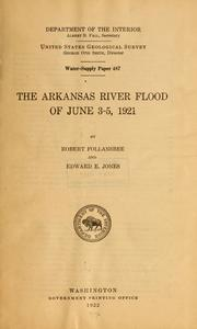 Cover of: The Arkansas River flood of June 3-5, 1921