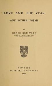 Cover of: Love and the year, and other poems