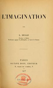 Cover of: L'Imagination