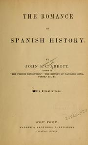 Cover of: The romance of Spanish history