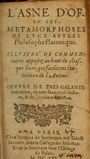 Cover of: L' asne d'or: ov, Les metamorphoses.  Illvstré de commentaires apposez au bout de chasque liure, qui facilitent l'intention de l'auteur ...