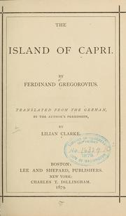 Cover of: The island of Capri