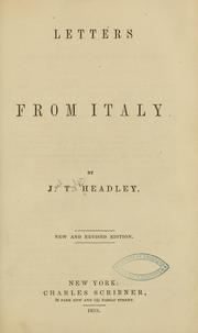 Cover of: Letters from Italy