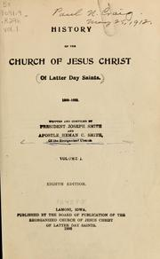 Cover of: History of the Church of Jesus Christ of Latter Day Saints, 1805-1835
