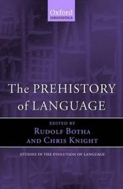 Cover of: The Prehistory Of Language