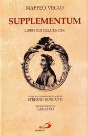 Cover of: Supplementum  libro XIII dell'Eneide