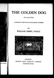 Cover of: The golden dog (Le chien d'or)