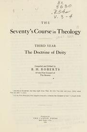 Cover of: The Seventy's course in theology, third year