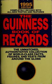 Cover of: The Guinness book of records, 1995
