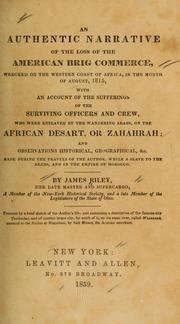 Cover of: An authentic narrative of the loss of the American brig Commerce