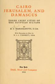 Cover of: Cairo, Jerusalem, and Damascus