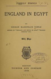 Cover of: England in Egypt