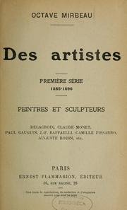 Cover of: Des artistes