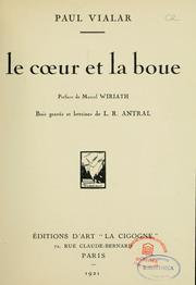 Cover of: Le coeur et la boue