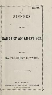 Cover of: Sinners in the hands of an angry God