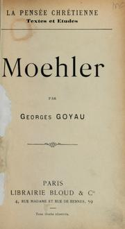 Cover of: Moehler