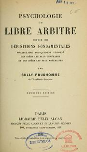 Cover of: Psychologie du libre arbitre