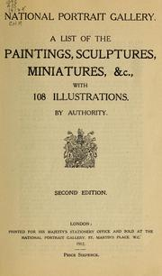 Cover of: A list of the paintings, sculptures, miniatures, &c., with 108 illustrations