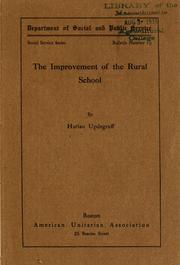 Cover of: The improvement of the rural school