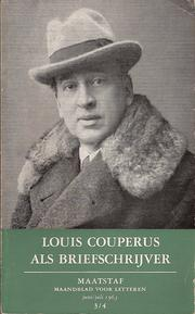 Cover of: Louis Couperus als briefschrijver
