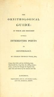 Cover of: The ornithological guide ...
