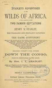 Cover of: Stanley's adventures in the wilds of Africa