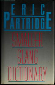 Cover of: Smaller slang dictionary