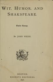 Cover of: Wit, humor and Shakespeare