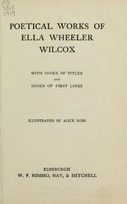 Cover of: Poetical works of Ella Wheeler Wilcox