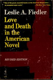 Cover of: Love and death in the American novel