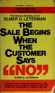 Cover of: The sale begins when the customer says no