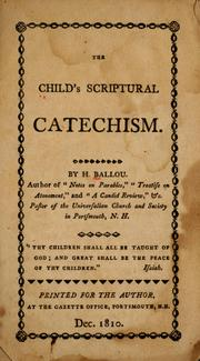 Cover of: The child's Scriptural catechism