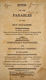 Cover of: Notes on the parables of the New Testament