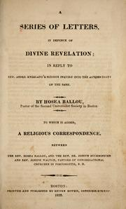 Cover of: A series of letters in defence of divine revelation