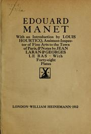 Cover of: Édouard Manet