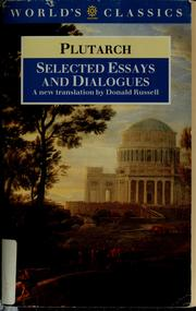 Cover of: Selected essays and dialogues