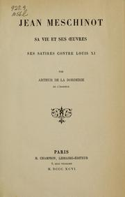 Cover of: Jean Meschinot
