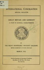 Cover of: Great Britain and Germany